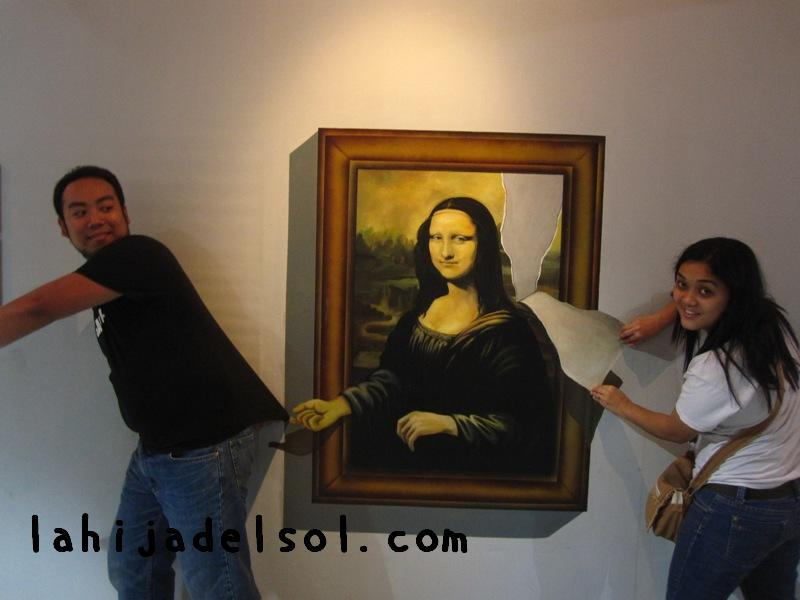 trick art mona lisa