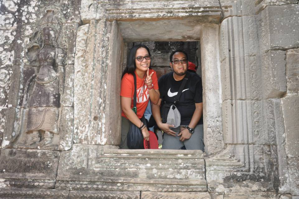 inside bayon temple