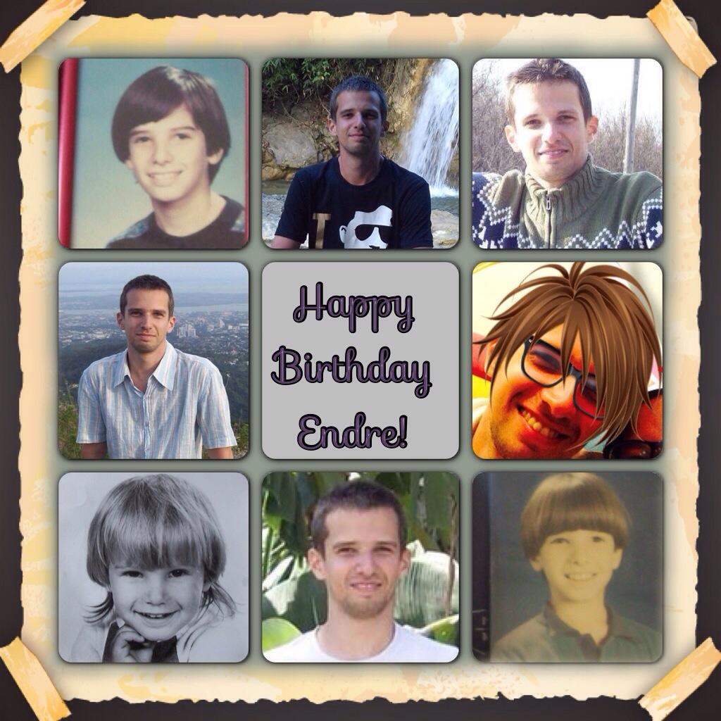 Happy birthday, Endre!