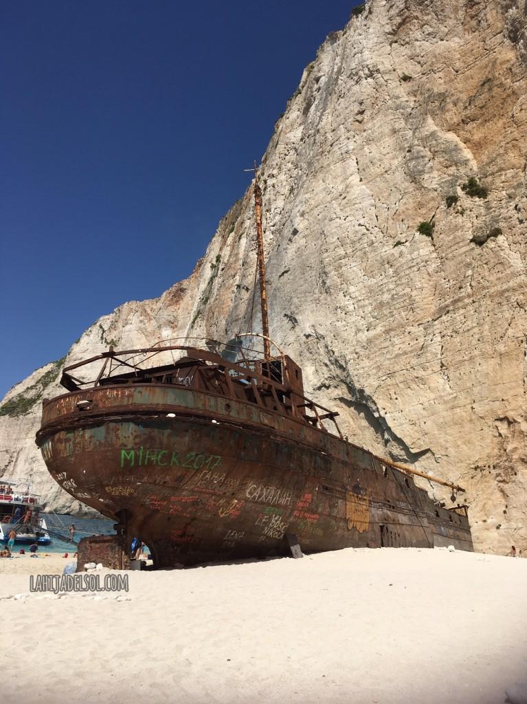 Shipwreck beach in Zakynthos, Greece